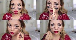 Halloween Makeup Double Vision