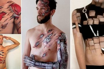 Jody Steel Bodypainted Superheroes