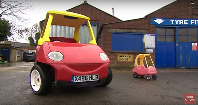 This Awesome Toy Car Has Been Rebuilt For Adults And Is