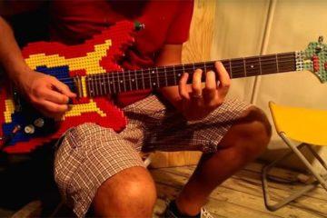 Nicola Pavan Plays LEGO Guitar