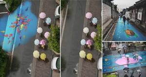 Pantone Street Art Visible Rain