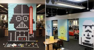 Post-It Notes Star Wars Murals