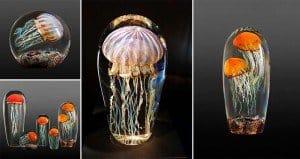 Rick Satava Blown Glass Jellyfish