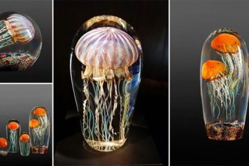 Rick Satava Blown Glass Jellyfish