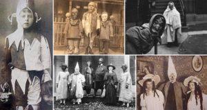 Scary Old Halloween Photo
