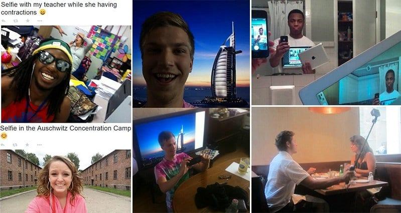 15 people taking crazy selfies you won u0026 39 t believe