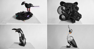 Tim Hobbelman Discarded Electronics Animal Sculptures