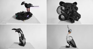Tim Hobbelman Discarded Electronics Animal Sculptures