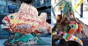 Washedashore Beach Waste Sculptures