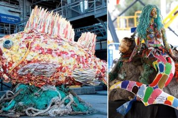 Washedashore Beach Waste Sculptures