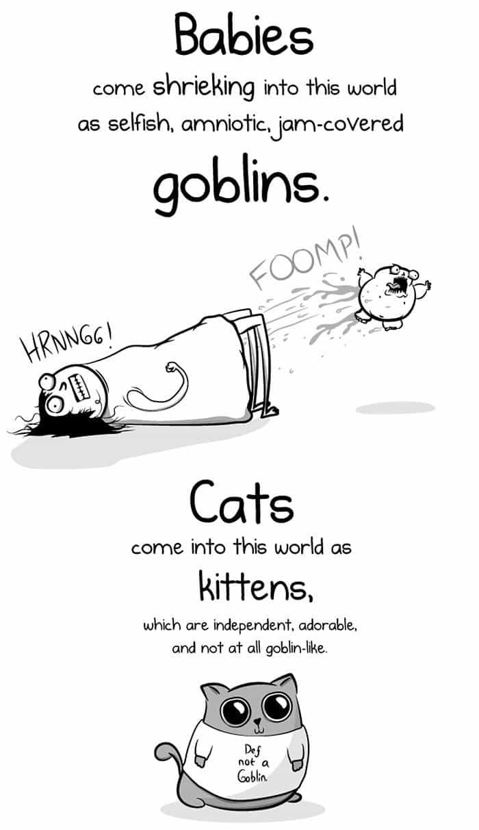 babies vs kittens