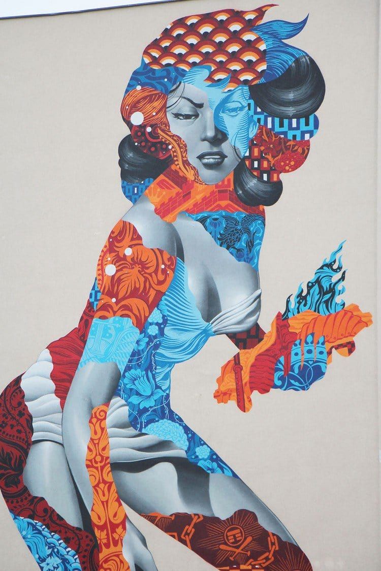 berlin 50 foot woman mural