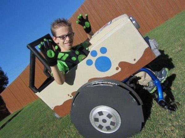 boy wheelchair costume