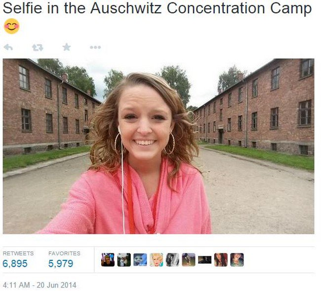 concentration camp selfie
