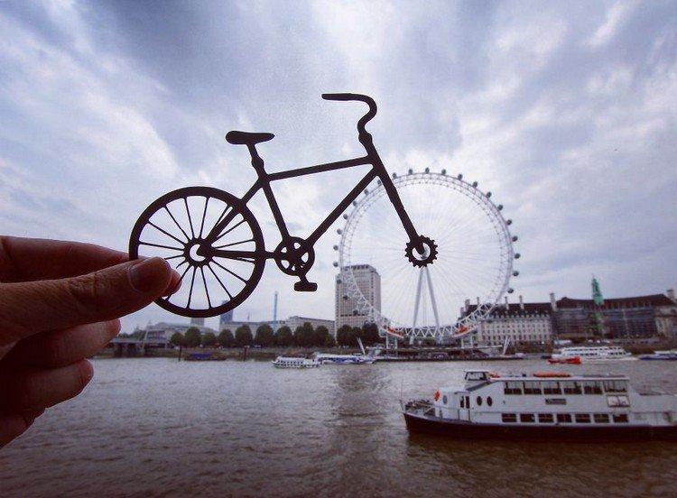 cut out london eye