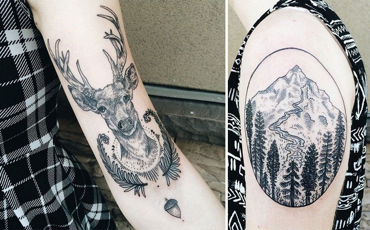 deer mountain tattoos