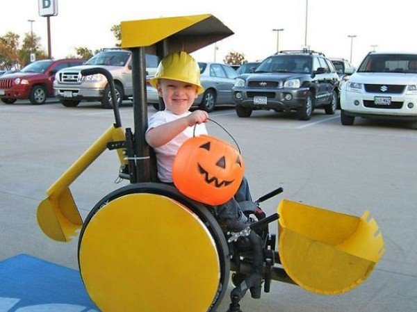 digger wheelchair costume