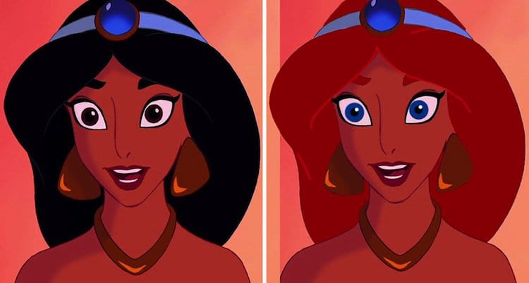 Disney Princesses Get An Interesting Hair And Eye Color