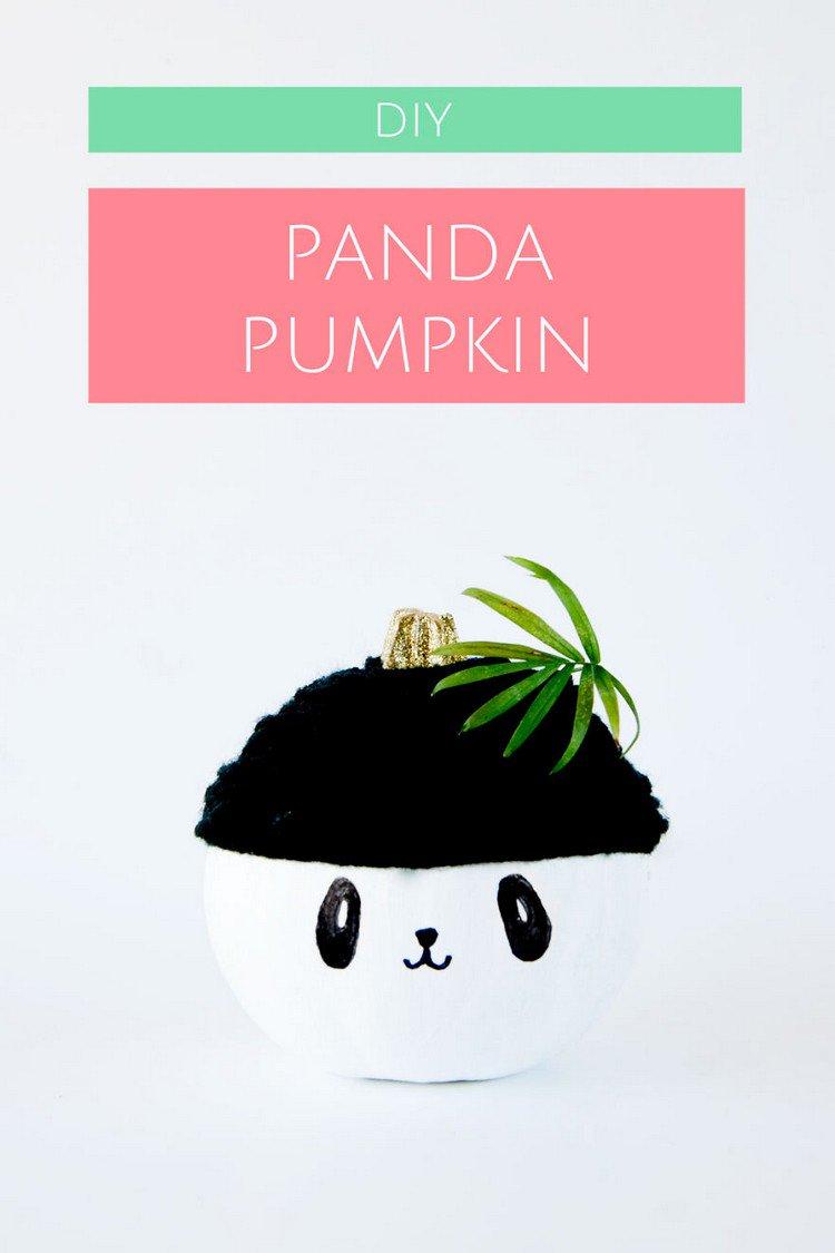 diy panda pumpkin