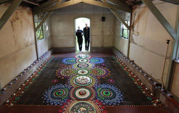 doorway people mandala art