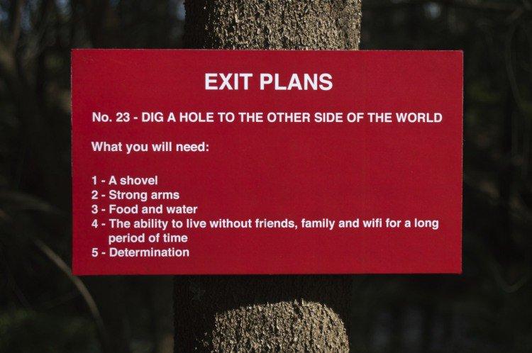 exit plans sign