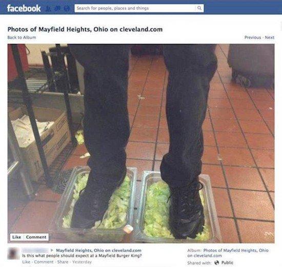 feet in lettuce