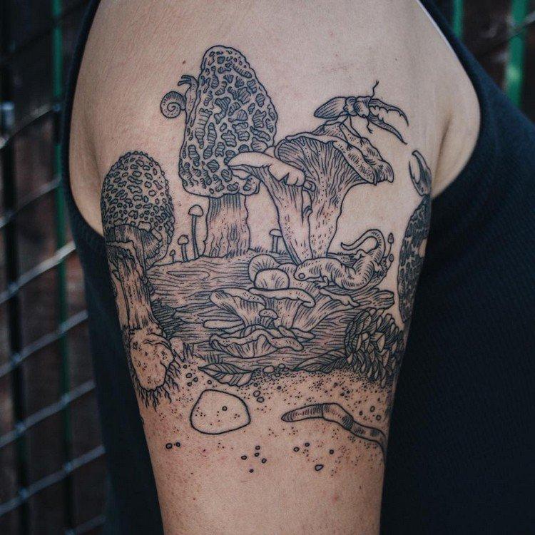 fungi tattoo