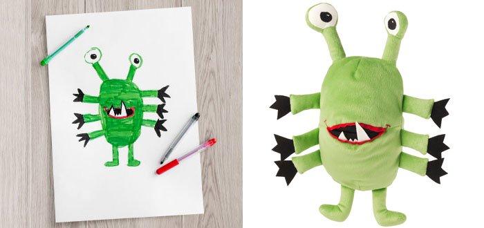 green alien plushie