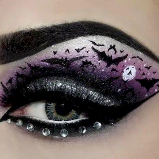 halloween-makeup-bats