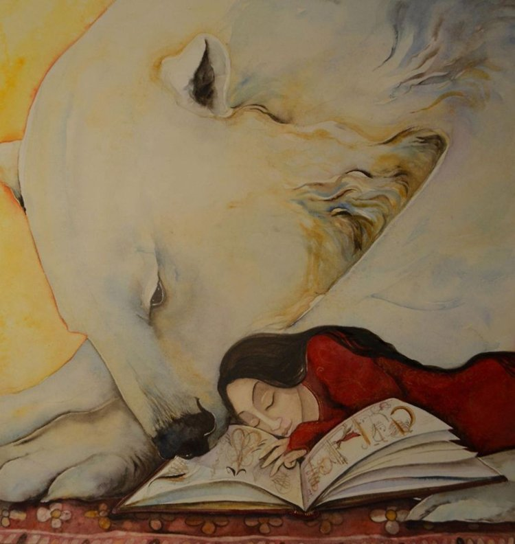 jackie-morris-bear-paintings-reading