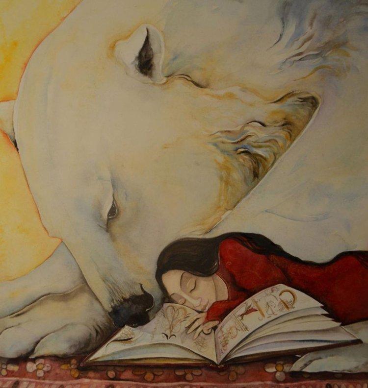 jackie-morris-bear-paintings-reading