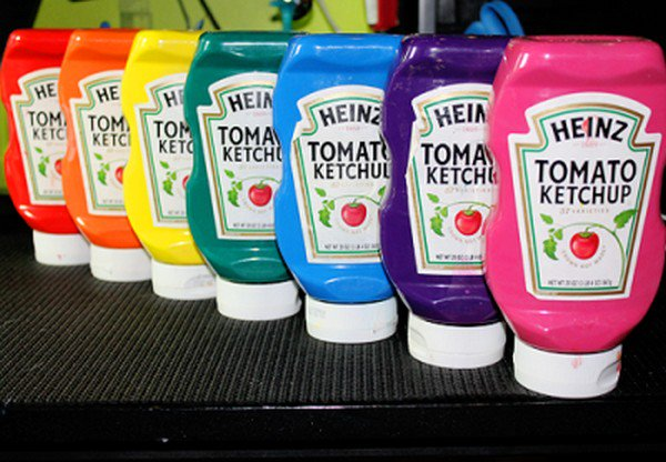 ketchup bottle paints
