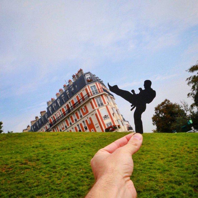 kicking man paris