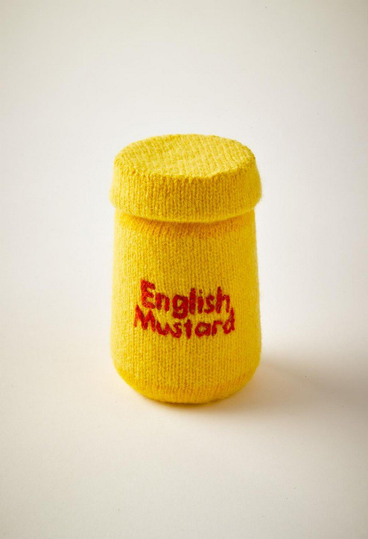 knitted mustard