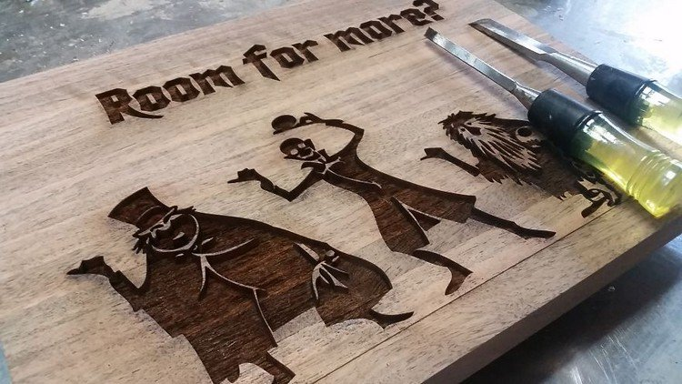 laser etched cutting board