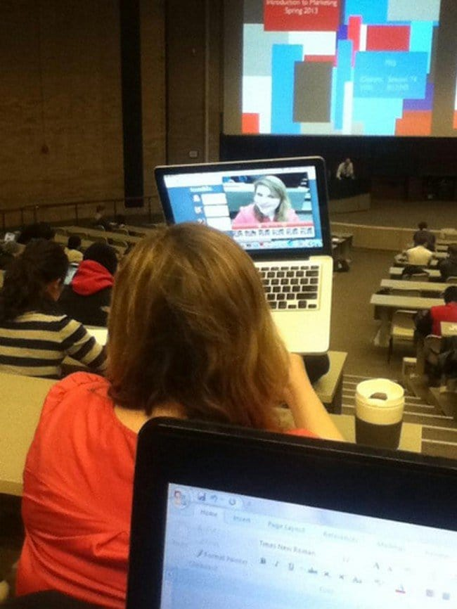 lecture selfie