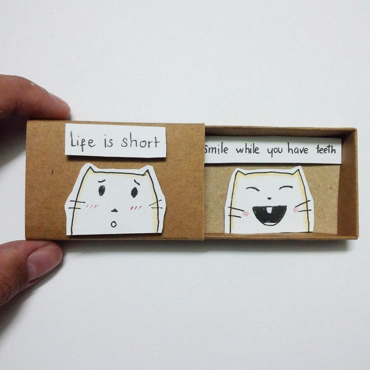 life short smile teeth