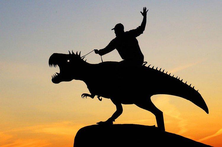 man dinosaur silhouette