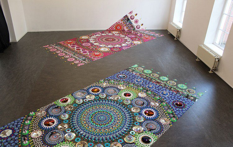 mandala carpet art