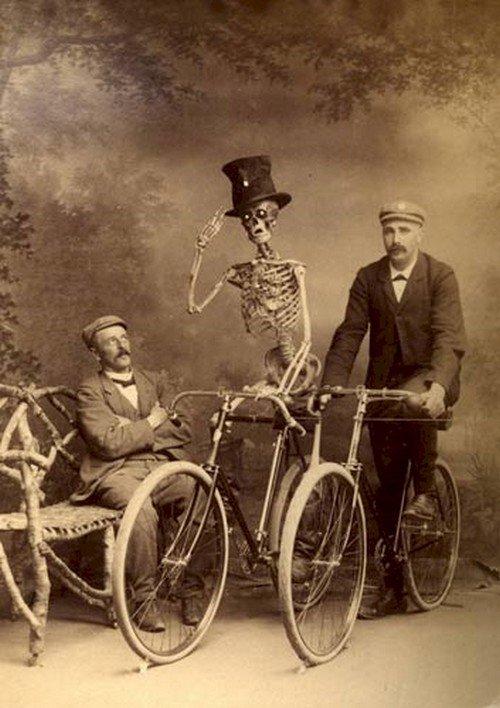 men bikes skeleton