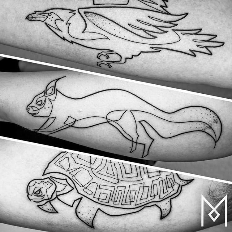 one-line-tattoo-mo-ganji-animals