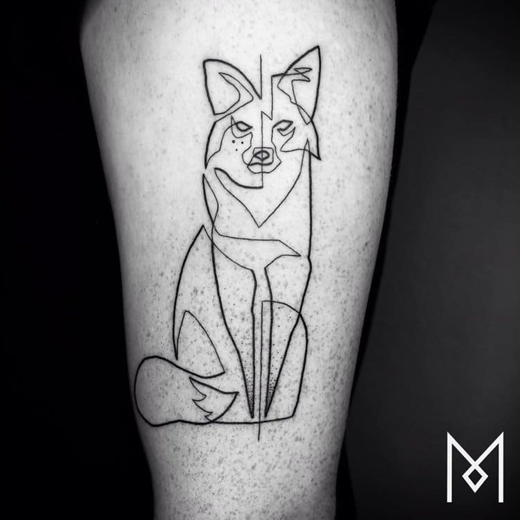 one-line-tattoo-mo-ganji-fox
