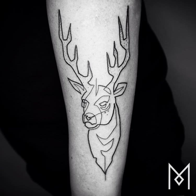 These awesome tattoos are created using just one for Single line tattoo