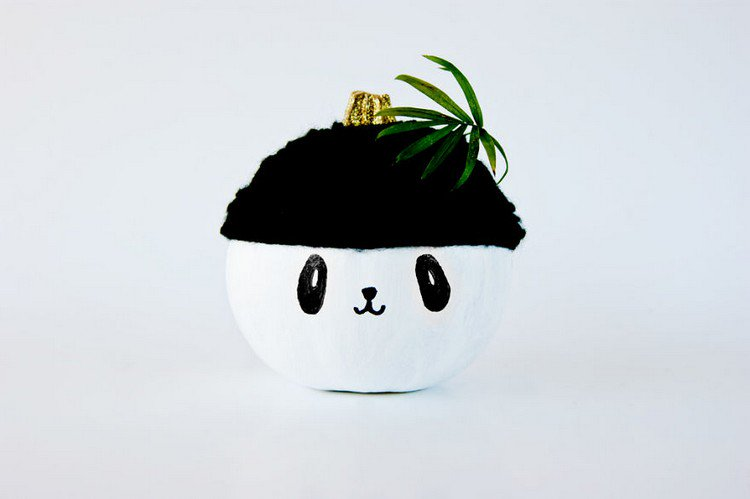 panda leaf head
