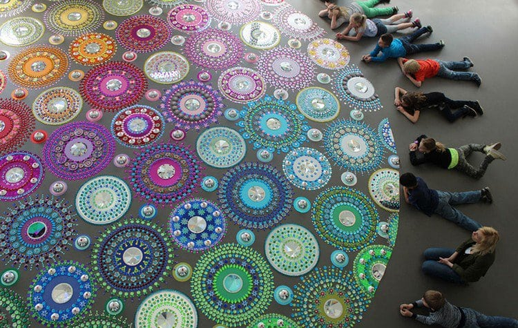 people beside mandala art