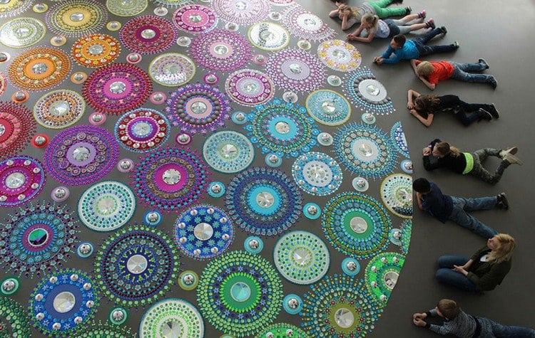 people beside mandala art
