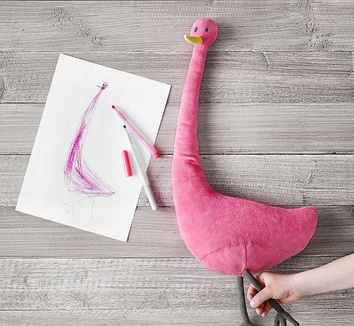 pink bird plushie