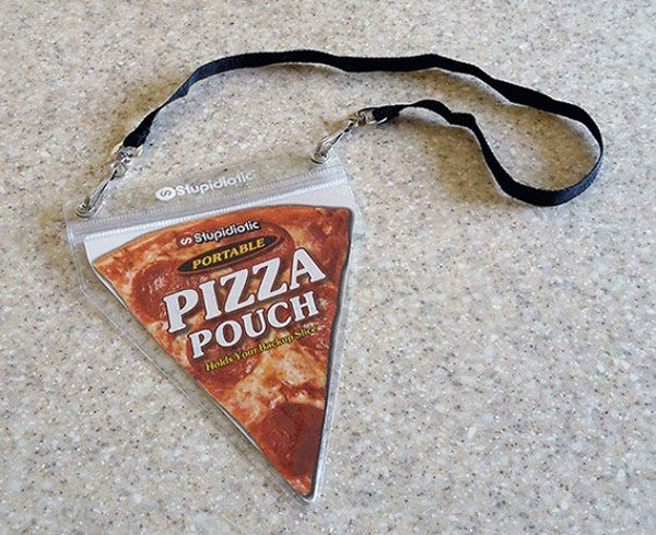 pizza pouch necklace