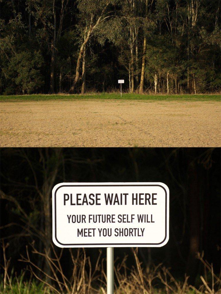 please wait future self sign