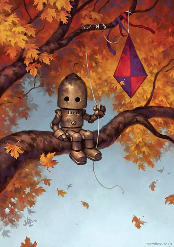 robot kite tree